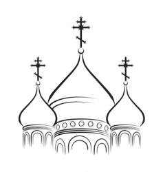cathedral cupola vector image vector image