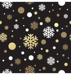 Seamless black christmas wallpaper with white and vector image vector image