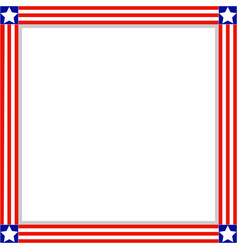 square frame with american symbols vector image