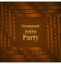 Steampunk retro partyframe vector image vector image