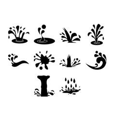 Water icon set vector