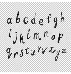 alphabet watercolor transparency vector image vector image