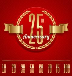 Decorative anniversary golden emblem - vector image vector image