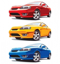 sports cars vector image vector image
