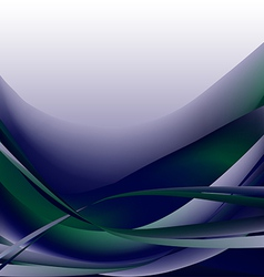 Colorful waves isolated abstract background blue d vector image