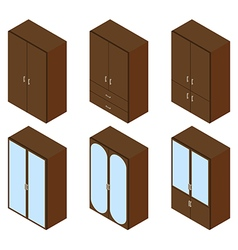 Cupboard isometric vector