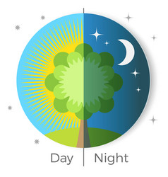 day and night conceptual vector image