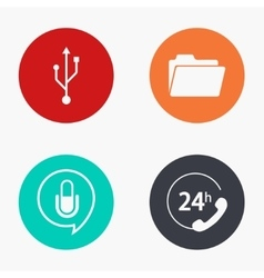 modern technology colorful icons set vector image