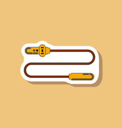 paper sticker on stylish background jump rope vector image vector image