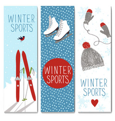 Set of 3 lovely winter cards templates vector image