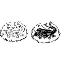 thai yantra thai tattoo vector image vector image