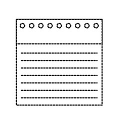 back to school notebook paper lined holes vector image