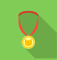 cat medal icon in flate style isolated on white vector image vector image