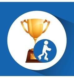 extreme sport avatar inline skate vector image
