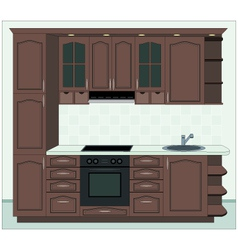 interior of kitchen vector image vector image