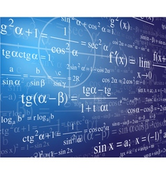 mathematics background with formulas vector image