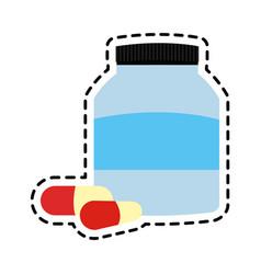 medication pills icon image vector image