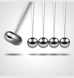 newtons cradle isolated on white vector image vector image
