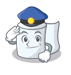 Police tissue character cartoon style vector
