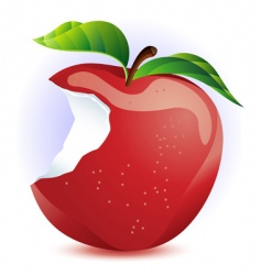 red apple with bite vector image