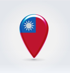 Taiwan icon point for map vector image vector image