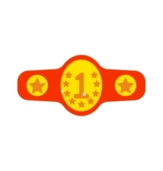 Winner belt vector image