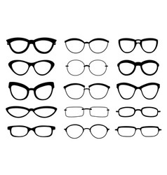 a set glasses isolated glasses model vector image