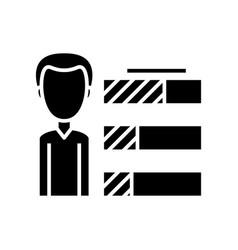 achievements black icon concept vector image