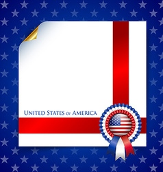 American document template vector image