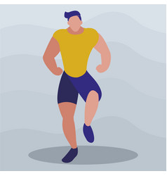 Athletic man practicing exercises vector