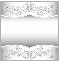 background frame with white spiral ornaments vector image