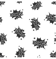 bang comic sound effects seamless pattern vector image