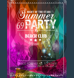 Beach Party Flyer for your latin music event vector