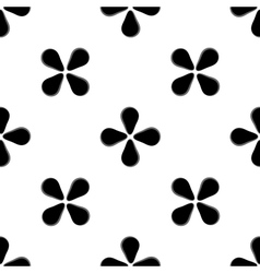 Black flower geometric seamless pattern vector image