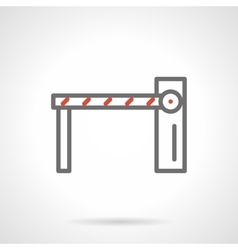 Checkpoint barrier black line icon vector image