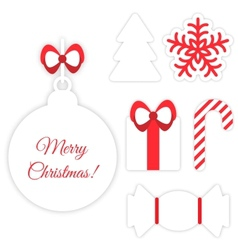Christmas symbols isolated on white vector image
