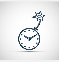 Clock is like a bomb with a wick vector