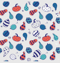 colorful pumpkins seamless pattern vector image