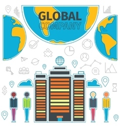 Company Global Concept vector