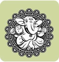 Creative hindu lord ganesha vector