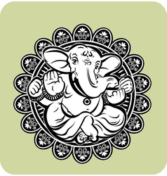 Creative of Hindu Lord Ganesha vector