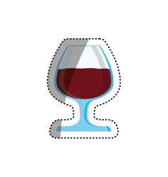 Cup of wine vector image