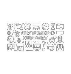 Customer support linear vector