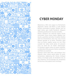 cyber monday line pattern concept vector image