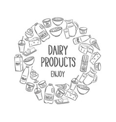 dairy product outline vector image