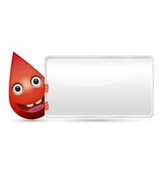 Drop of blood banner vector image