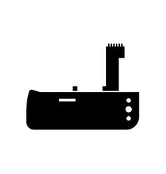Dslr photo camera battery grip vector