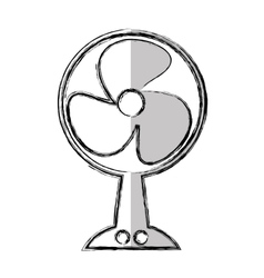 Fan appliance isolated icon vector