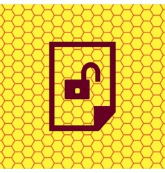 File unlocked icon symbol Flat modern web design vector