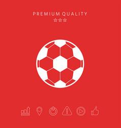 Football symbol soccer ball icon vector